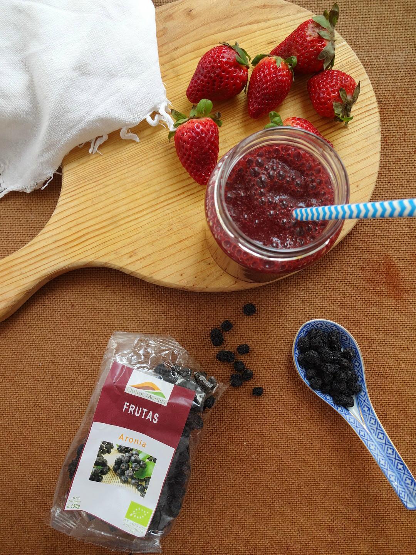 Sumo Antioxidante de morangos e Aronia Outros Montes
