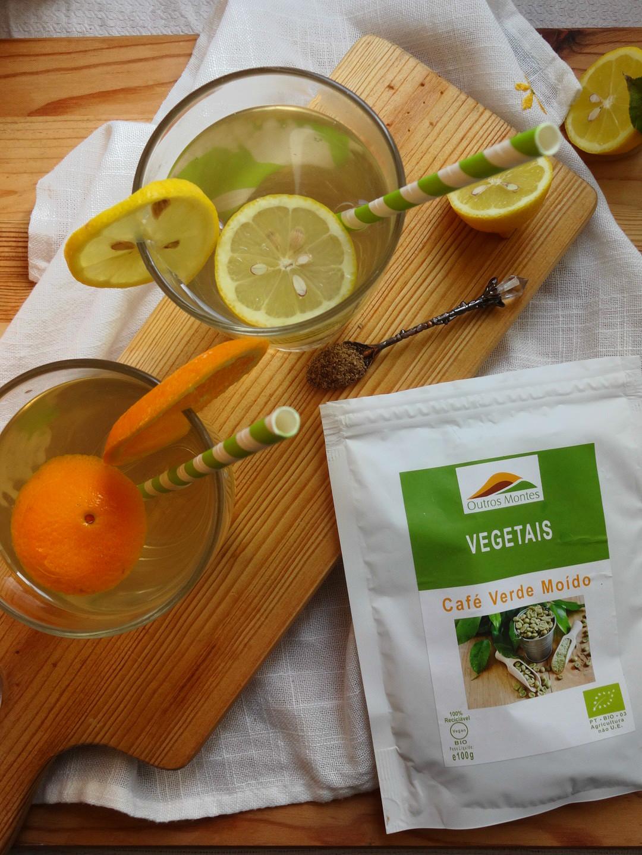 Refresco de Café Verde com Limão e Laranja