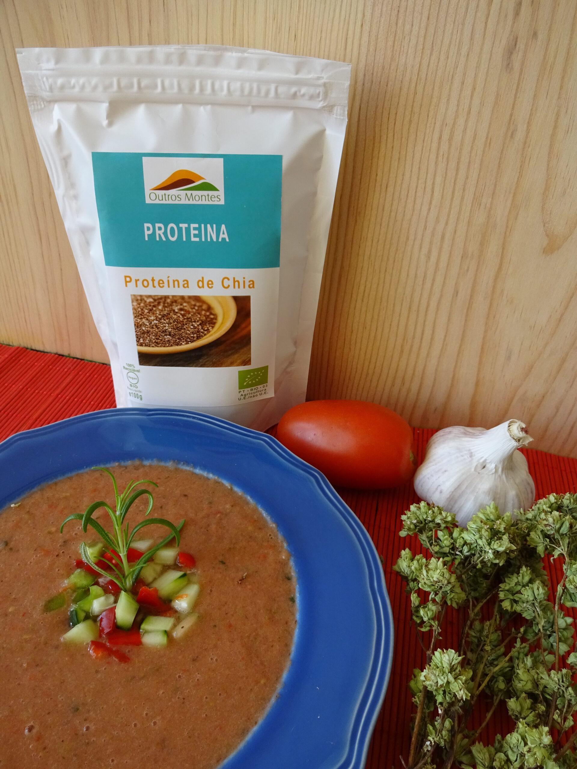 Gaspacho com Proteína de Chia