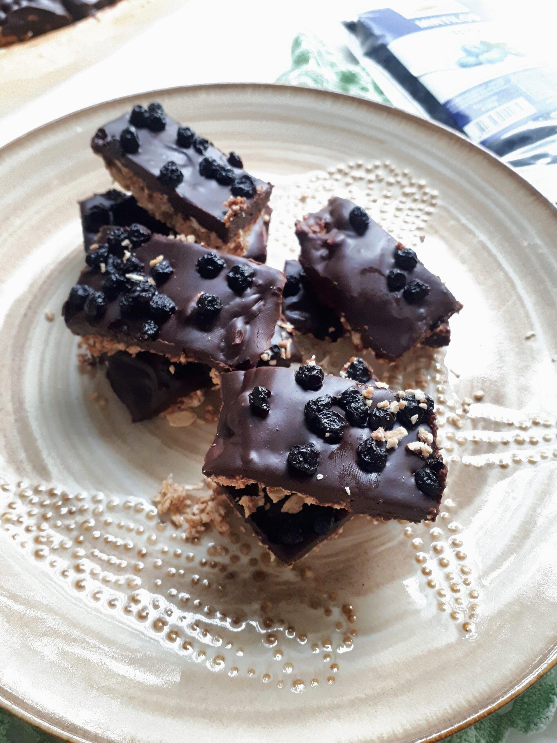 Barritas de aveia, Chocolate Preto e Mirtilos Bio Outros Montes