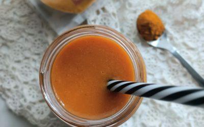 Smoothie de maçã, cenoura, Curcuma e Leite de Coco Outros Montes